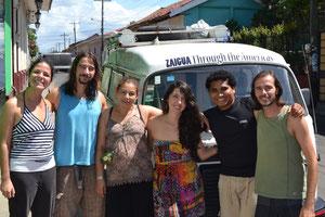 Con Lisa, Flor, Cristian y Ciro