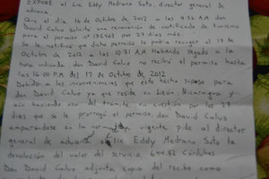 Parte de la carta al director