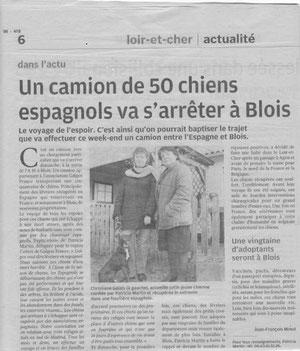 La Nouvelle République - Edition Loir et Cher du 29 janvier 2011