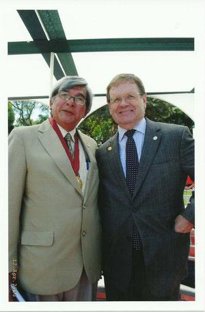 Alfredo Sosa -VicePresidente PACCPUL y el Representante de la OEA, Sr. David Morris