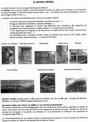 Brochure serrurerie-métallerie
