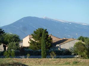 Blick über die Dächer zum Mont Ventoux!