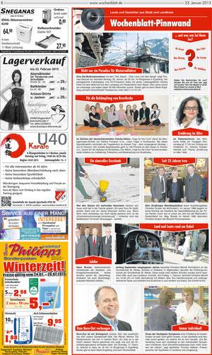 Artikel im Landshuter Wochenblatt 23.01.2013