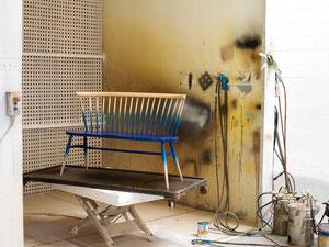 塗装中のラブシート