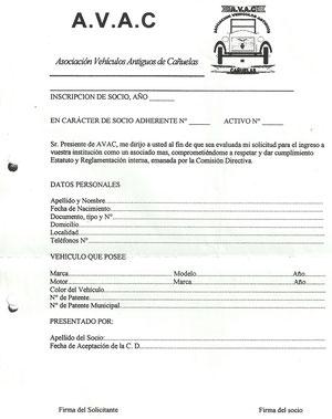 solicitud AVAC
