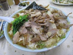裏メニューの鶏チャーシューメン