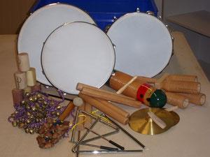 Inhalt der Instrumentenkisten
