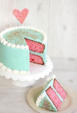 Sprinkle Bakes Turquoise vanilla cake