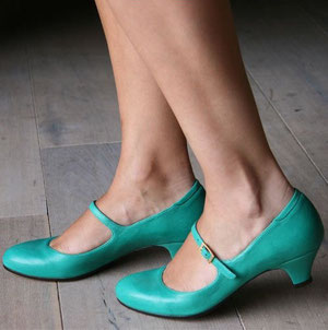 Chie Mihara turquoise Mary Janes