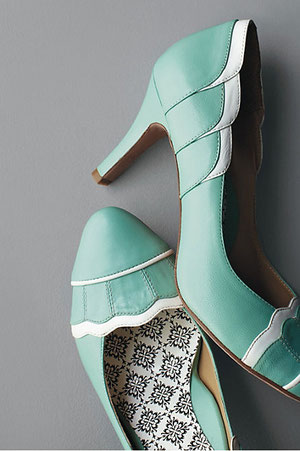 -Elopement Pumps by BHLDN- Turquoise heels