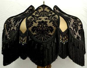 Black victorian lampshade by Plain Jane shop