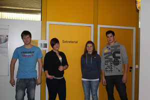(von links nach rechts) Stefan Quarleiter, Franziska Hermann, Jacqueline Schilling, Marvin Frank