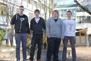 Victor Gibson, Raphael Schmid, Dominik Kalina, Tim Bruns (von links nach rechts)