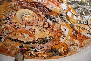 Peinture sur plafond - Burkina Faso - 2008