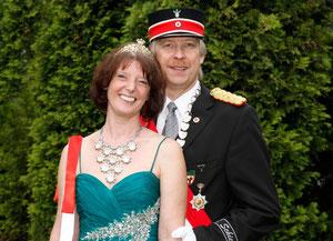 Das Königspaar 2011/2012 Ute und Guido Ronsiek