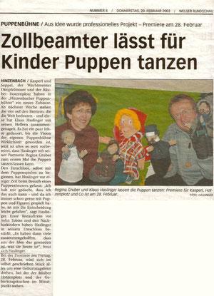 Welser Rundschau 20.02.2003