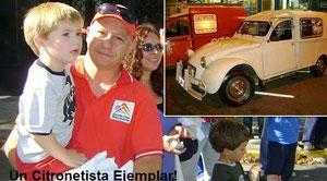 Adrian Parente deuchiste du Citroën Club de Buenos Aires (Argentine)