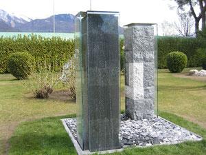 zeitsäulen marmor / granit / stahl / wasser