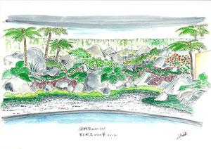 宜野座CC 風呂前庭