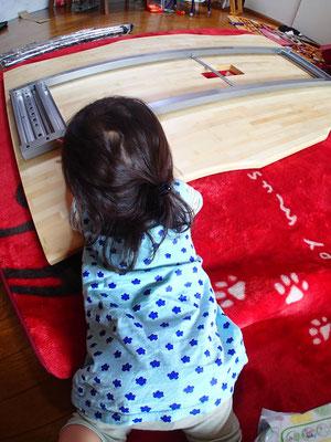 竹(白)集成材の天板 自作 テーブル
