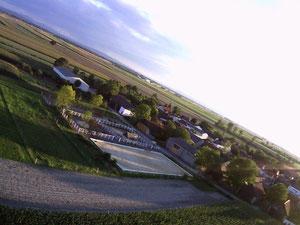 Luftbildaufnahme unseres Stalls