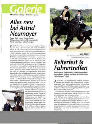 Artikel in der Zeitschrift Pferd Plus