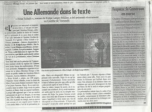 article Cameroon Tribune,2011