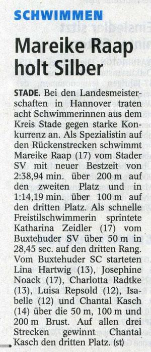BSC-Schwimmen/Buxtehuder Tageblatt vom 12.04.2013