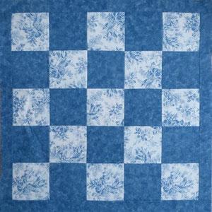 Tschdecke / Mitteldecke / blau