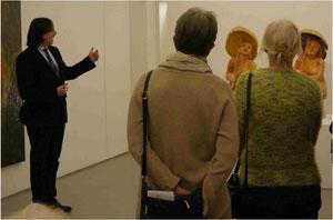Einführung Colmar Schulte-Goltz vor Roger Löcherbach Skulpturen