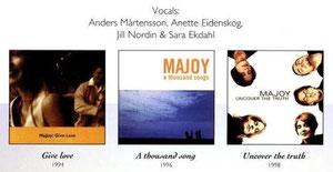 MaJoy CD's mit den Musikern: Anders Martenson, Anette Eidenskog, Jill Nordin & Sara Ekdahl