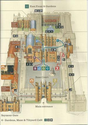Plan Château Hampton court