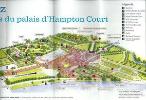 Plan des jardins d'Hampton Court Palace