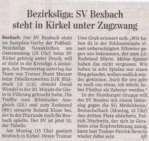 Saarbrücker Zeitung vom 23.04.11