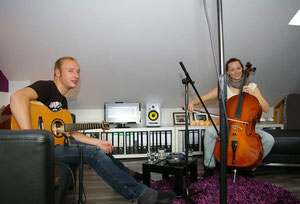 "spontanes homerecording unserer radio-""single"" ""frei"" ..."
