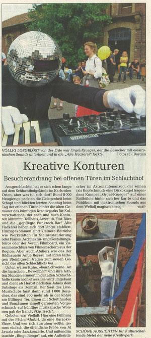Tag der offenen Tür 'Ausgeschlachtet', Stadtzeitung, 15. Mai, 2009, Nr. 20