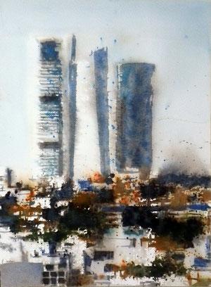 Towers BA Madrid. 40x30 cm.
