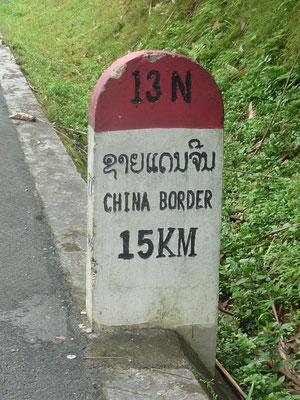 Passage de la frontière chinoise