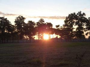 Lever de soleil à l'école des bonzes