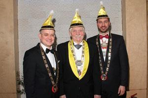 Sebastian Brehm, Heinz Fröhlich und Jochen Kohler