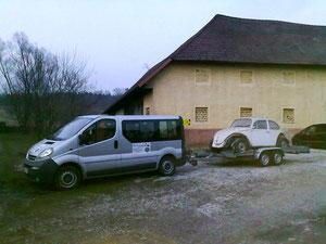 13.03.2013 Mein Käfer wird aus Wels geholt!