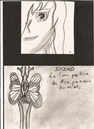 """""""Sfind épée papillon et un visage de manga"""""""