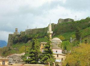 UNESCO-Weltkulturerbestadt Gjirokastra.