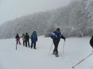 ciaspolata sotto la neve....1500mt....