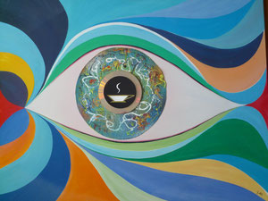 Coffee Eye in Pollock's Style