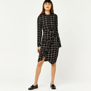 Warehouse check shirt dress.