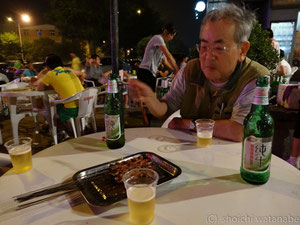 ビールと串で楽しく。これで2日目はおしまい。