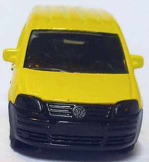 Matchbox VW Caddy DHL (1) 2007 1:64  Frontansicht