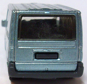 Matchbox Ford Transit 2006 lightblue 1:64 Heckansicht