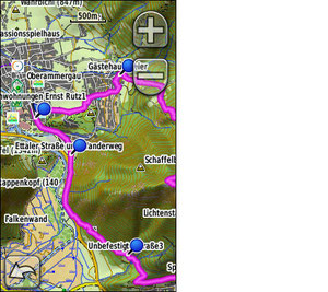 digitale Karten GPS-Gerät
